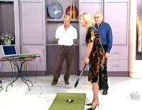 Kerri Anne Laser Golf playing Tiger Woods PGA golf